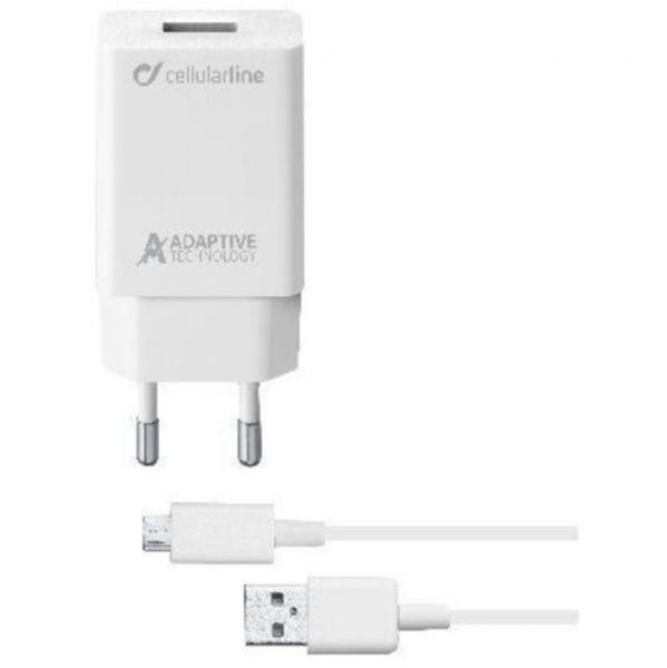 Cellular Line Adaptive Fast Charger Kit 15W - Micro USB