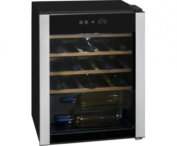 Exquisit WS 124-3 EA Weinkühlschrank, bis zu 24 Flaschen, Schwarz