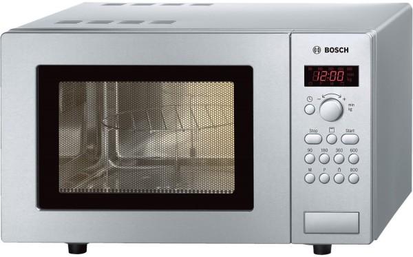Bosch HMT75G451 Mikrowelle mit Grill, 17 Liter, 800 Watt, Edelstahl