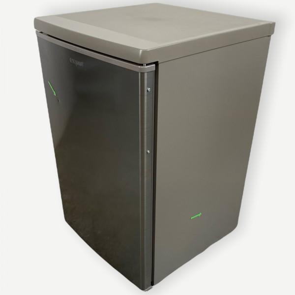 Exquisit KS16-4-HE-040D Kühlschrank inoxlook, 85 cm hoch, 55 cm breit