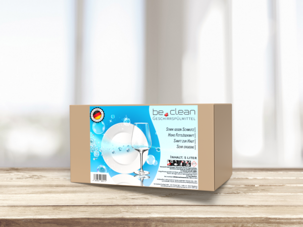 be.clean Geschirrspülmittel, 5 Liter Inhalt, Hohe Fettlösekraft, Sanft zur Haut