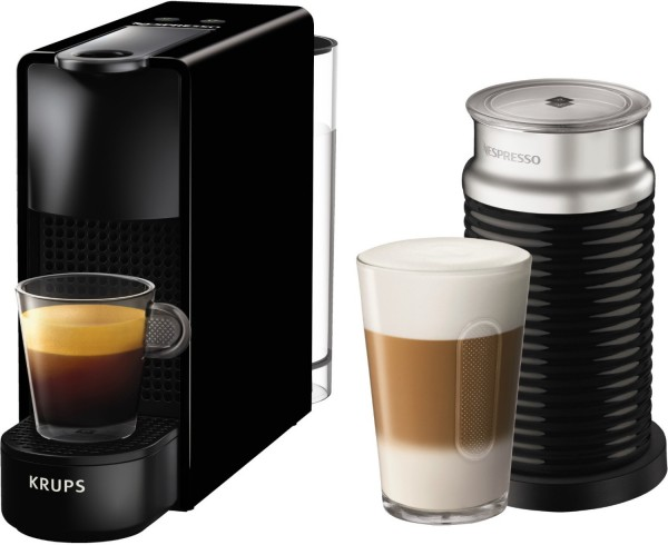 Nespresso Essenza Mini XN1118 Kapselmaschine mit Aeroccino Milchaufschäumer