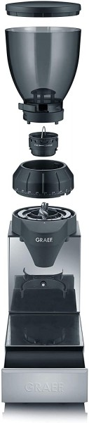 GRAEF CM 850 Kaffeemühle Hochglanz/ Edelstahl (128 Watt)