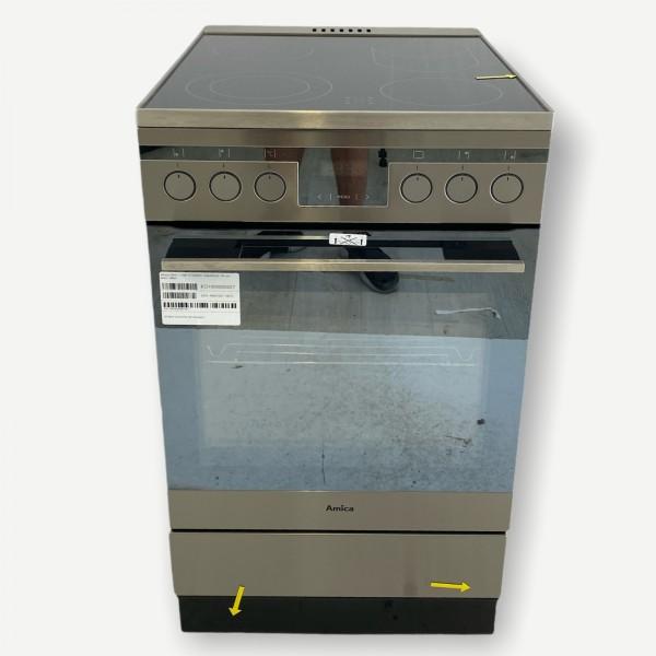 Amica SHC 11587 E Elektro- Standherd, 50 cm breit, silber