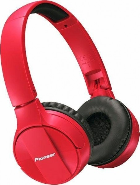 Pioneer SE-MJ553BT On-Ear-Kopfhörer, Für alle Smartphones, iPod, iPhone, rot