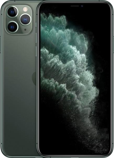 Apple iPhone 11 Pro Max Smartphone 6,5 Zoll, 64GB, 12 MP Kamera, Midnught Green