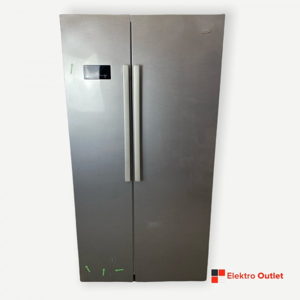 Beko GN163030XB Side-by-Side, No Frost, 558 Liter, silber, A++