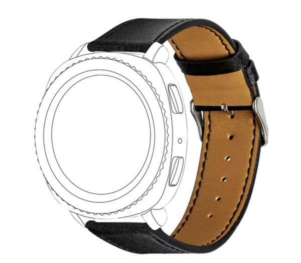 Topp 40-37-7592 Ersatz-/Wechselarmband Samsung Garmin, Schwarz