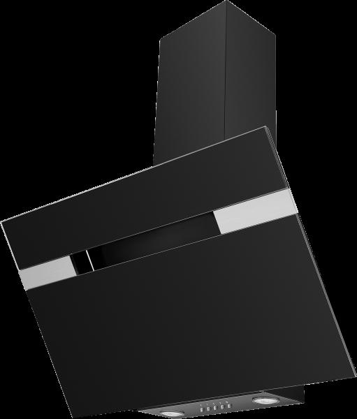 Mican 60230 Kaminhaube, 90cm, kopffrei, schwarz