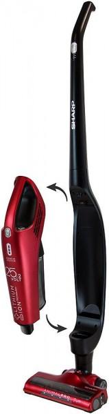 Sharp SA-VS3001BR Stiel- Staubsauger, beutellos, 2-in-1, rot/schwarz