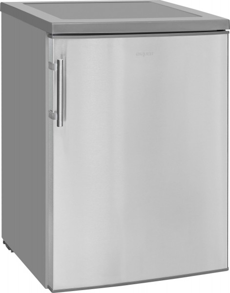 exquisit KS 18-17 A++ Table Top Kühlschrank Inoxlook, 85cm