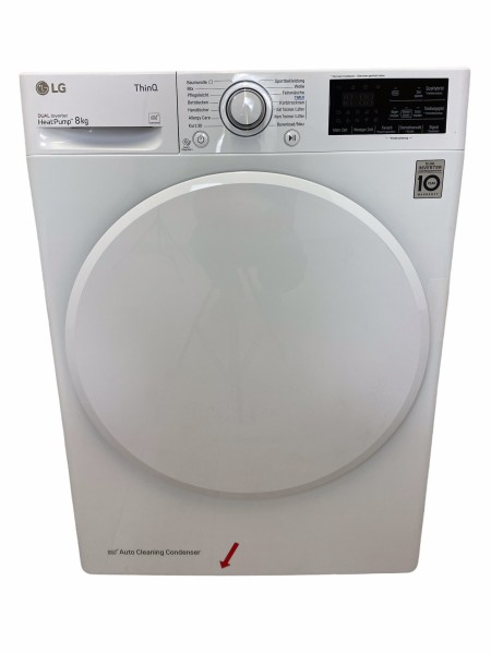 LG RT8DIHP Wärmepumpentrockner, Inverter Motor, 8 kg, A+++, weiß