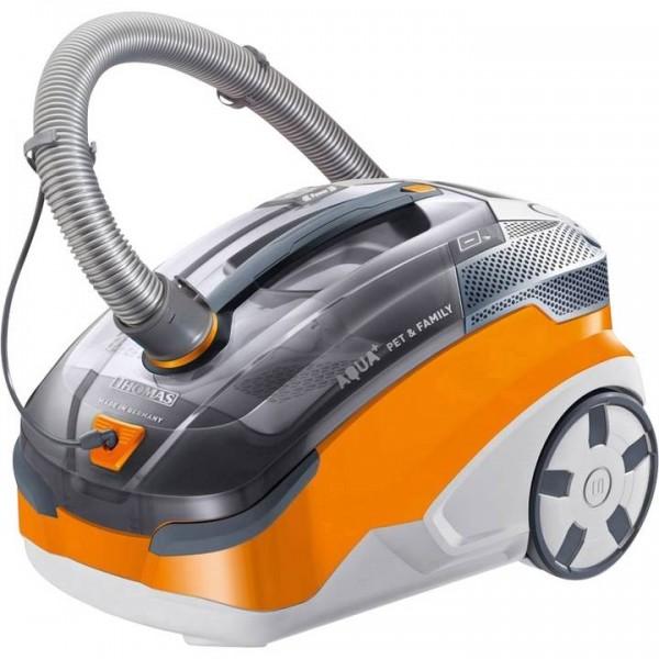 Thomas Aqua+ Pet + Family Staubsauger, ohne Beutel, 1600 W, Orange/ Grau