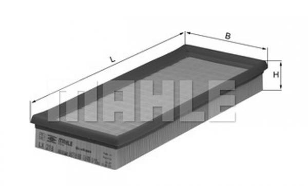 Luftfilter LX 218 MAHLE ORIGINAL