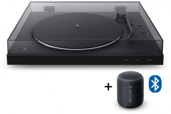 Sony PS-LX310XBT + BT Lautsprecher SRS-XB12 Plattenspieler (Bluetooth)