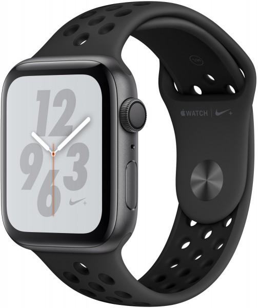 Apple Watch Series 4 Nike+ 44 mm, Alu. space grau, Sportarmband, Anthrazit