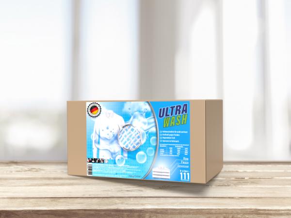 be.clean UltraWash Vollwaschmittel, 5 Liter Bag-In-Box, Kraftvoll gegen Flecken