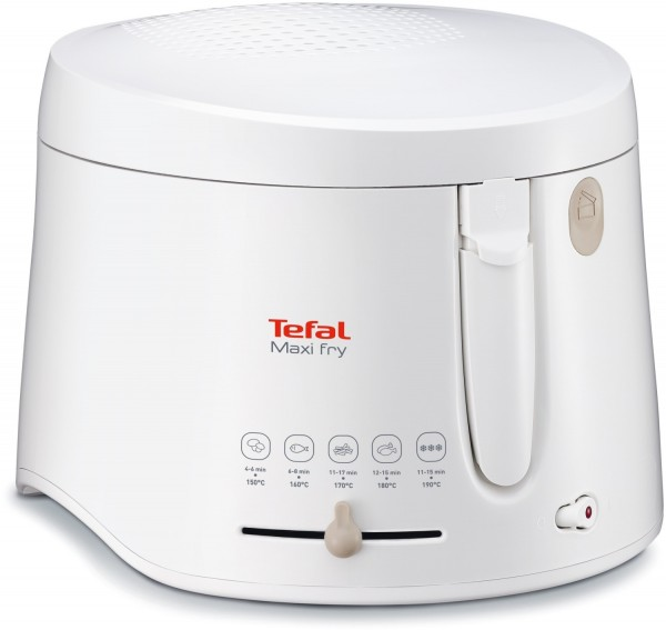 Tefal FF1001 MaxiFry mit Timer Fritteuse weiß
