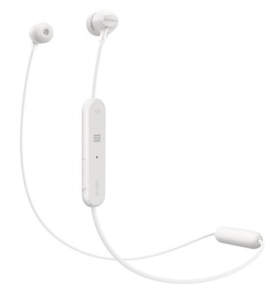 Sony WI-C300 Kabelloser In-Ohr Kopfhörer, bis zu 8 Stunden Akkulaufzeit, weiß