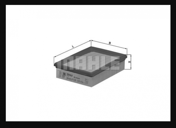 MAHLE LX 337 ORIGINAL Air Filter