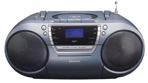 Lenco SCD-680 DAB+ mit Kassettendeck Radiorecorder, Grau LENCO