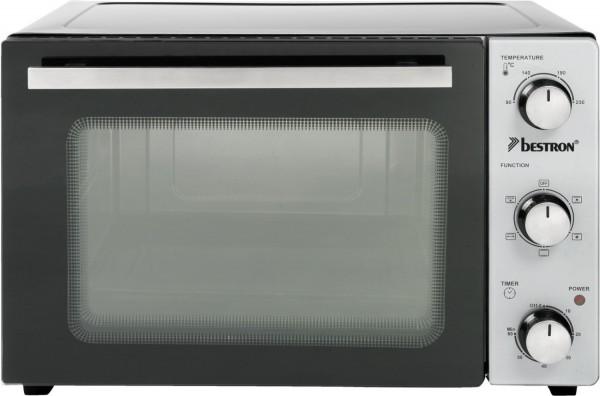 Bestron AOV31 Minibackofen mit Drehspieß, Umluft, Ober-/Unterhitze, 31 l, 1500 W