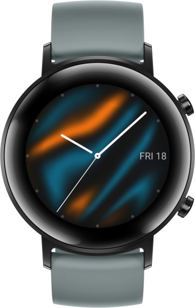 Huawei Watch GT 2 42mm Sport Smartwatch Fluorkautschuk, 130-200 mm, Blaugrau