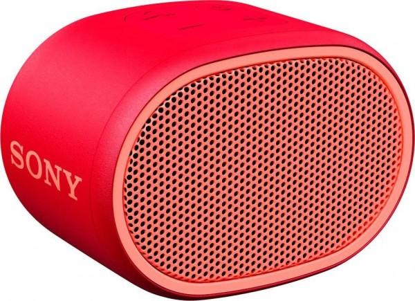 Sony SRS-XB01 Mono Bluetooth- Lautsprecher, Extra BASS, 6h Akkulaufzeit, rot