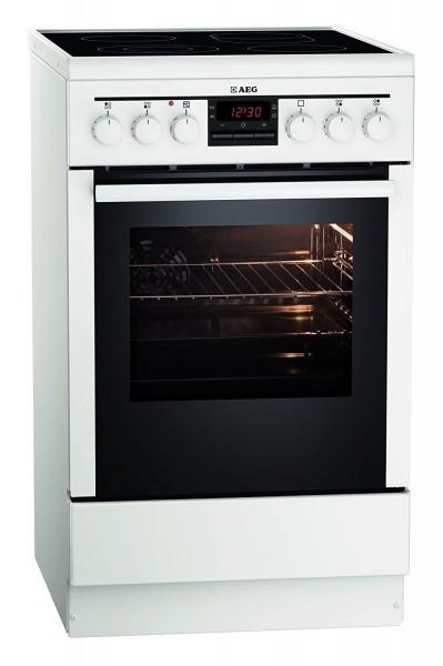 AEG 47095VD-WN Elektro- Standherd, 50cm breit, weiß