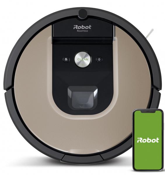 iRobot Roomba 966 Staubsauger- Roboter, App Steuerung, schwarz/ braun