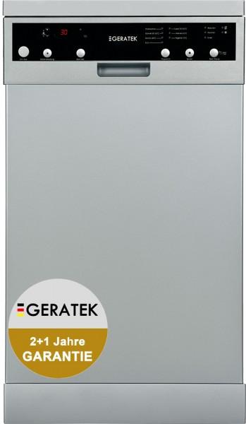 GERATEK Bregenz GS4061S Stand- Geschirrspüler, 45cm breit, silber