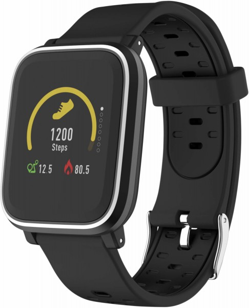 Denver SW-160 Smartwatch, Fitnesstracker, (3,3 cm/1,3 Zoll), schwarz