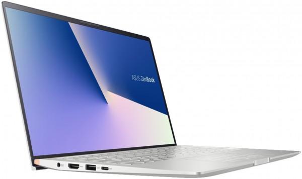 ASUS ZenBook 14 UM433IQ-A5018T, Notebook mit 14 Zoll Display, Ryzen™ 7 Prozessor, 16 GB RAM, 512 GB SSD, GeForce® MX350, Light Grey