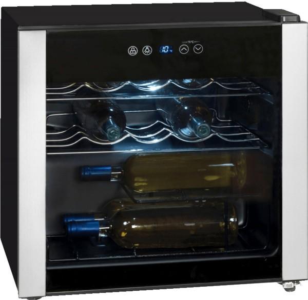 Exquisit WS 116-3 EA Weinkühlschrank, bis zu 14 Flaschen - Schwarz