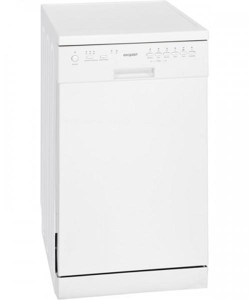 Exquisit GSP 3309-7 Stand- Geschirrspüler, 45 cm breit, A++, weiß