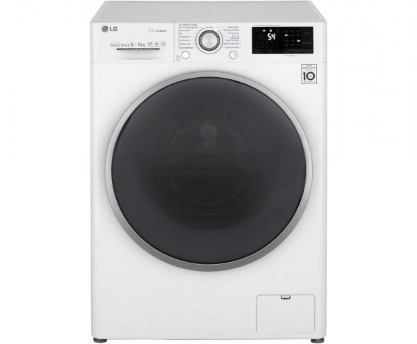 LG Serie 9 F14WD96EH1 Waschtrockner - 9 kg Waschen / 6 kg Trocknen,Weiß, 1400 U/Min