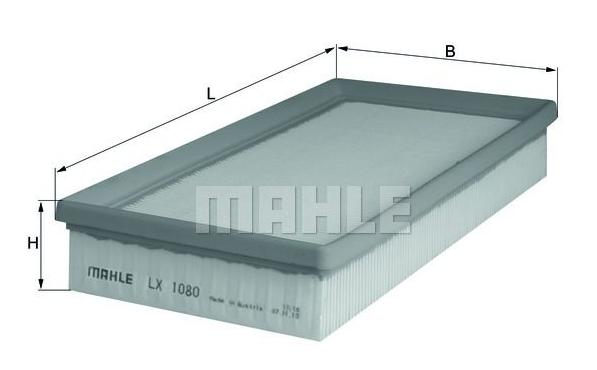 MAHLE LX 1080 ORIGINAL Luftfilter