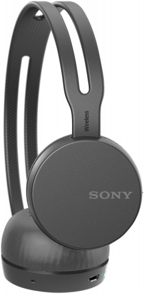 Sony WH-CH400 On-Ear-Kopfhörer, bis zu 20 Stunden Akkulaufzeit, schwarz