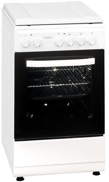 Exquisit EH9.3-9 Elektro- Standherd, 50cm breit, weiß