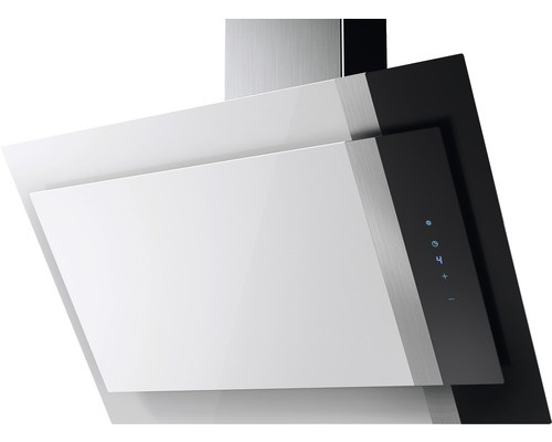 Amica KHF 694 600 W Dunstabzugshaube, kopffrei, 90cm, weiß/schwarz