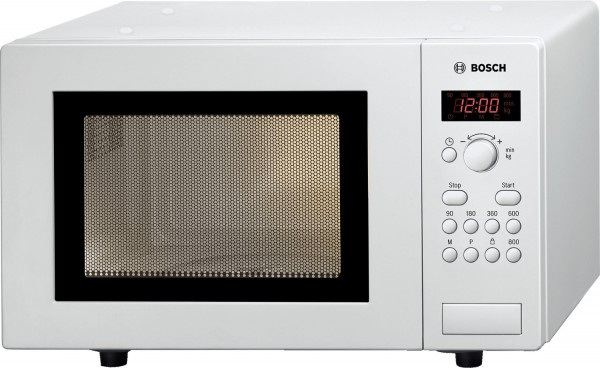 Bosch Serie 4 HMT75M421 Mikrowelle, 17 Liter, 800 Watt, weiß
