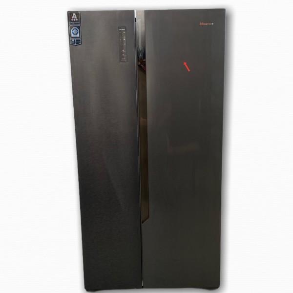 Hisense RS670N4BF3 Side-by-Side, NoFrost, 516 L, schwarz Steel Look