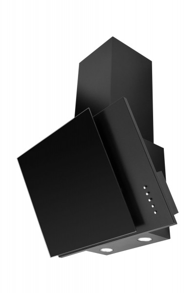 Mican 60240 Dunstabzugshaube, 60 cm breit, kopffrei, schwarz