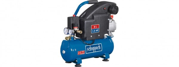 Scheppach Kompressor HC08 (8L, 8 bar, Ansaugleistung 155L/min, 1100 Watt)
