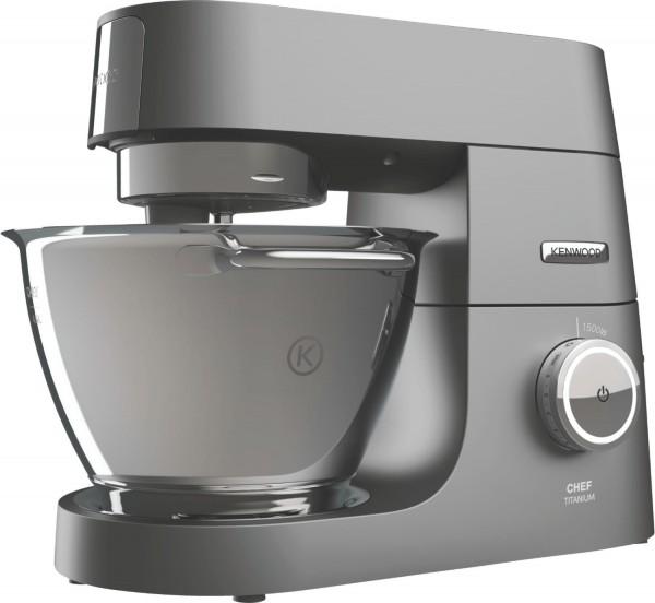 Kenwood KVC7350S Chef Titanium Küchenmaschine, silber 4,6 Liter, 1500 Watt, inkl. 6 Zubehörteile