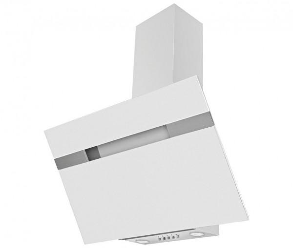 Mican 60231 Kaminhaube / Dunstabzugshaube 90cm, kopffrei, Weißglas